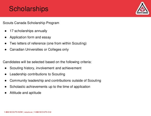 canadian scholarship essay