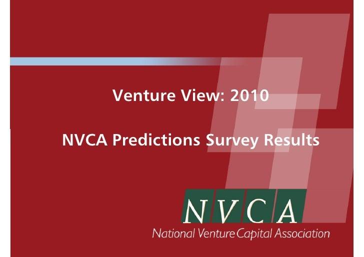 icon Venture Capitalists' Predictions for 2010