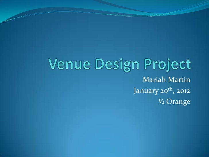 Venue design project