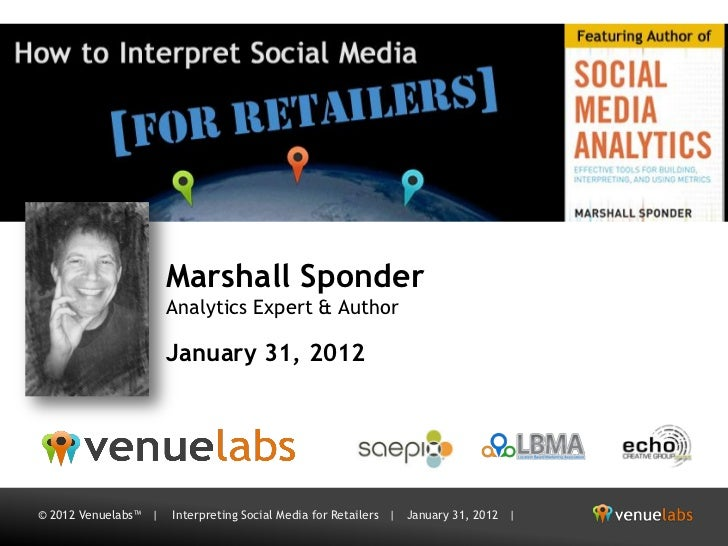 [Venuelabs] Interpreting Social Media for Retailers