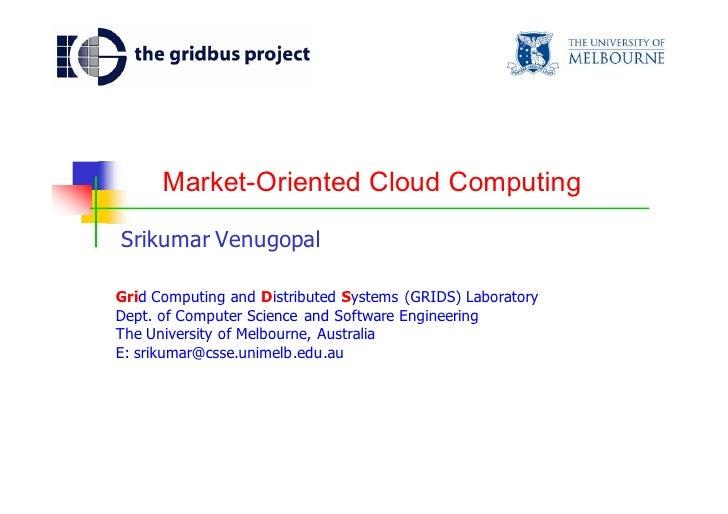 market oriented cloud