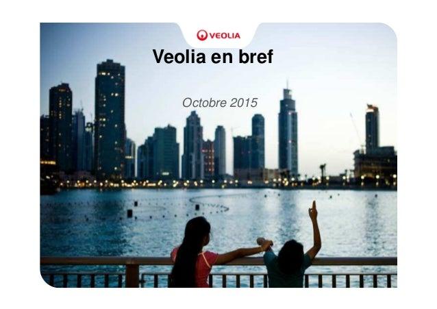 Veolia en bref Octobre 2015