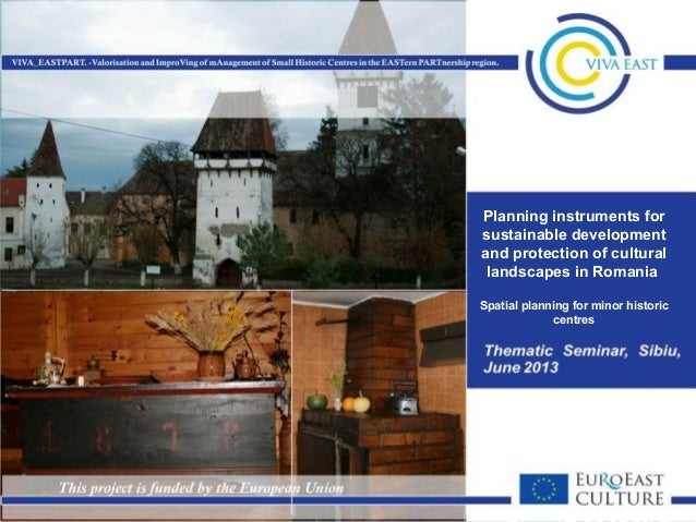 Planning instruments for sustainable development and protection of cultural landscapes in Romania
