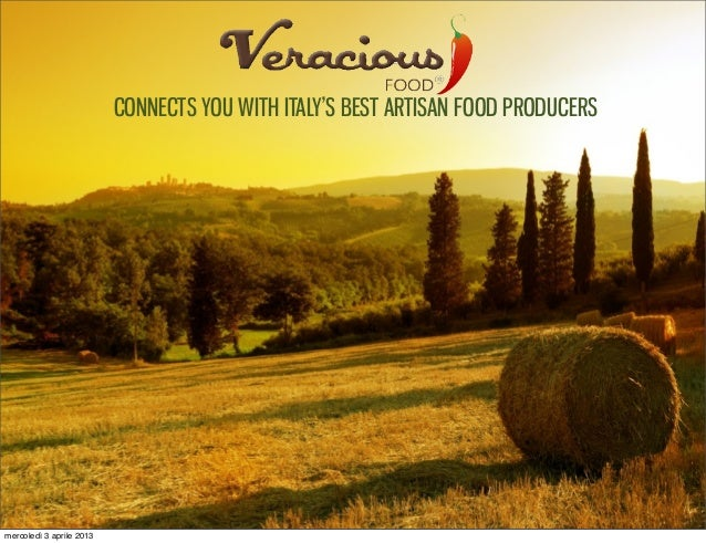 TITOLO CONNECTS YOU WITH ITALY'S BEST ARTISAN FOOD PRODUCERS mercoledì 3 aprile 2013