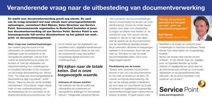 Veranderende vraag naar de uitbesteding van documentverwerking