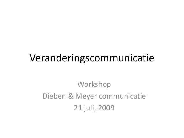 Veranderingscommunicatie workshop d&m