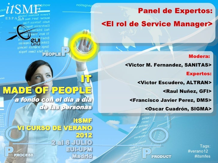 El rol del Service Manager