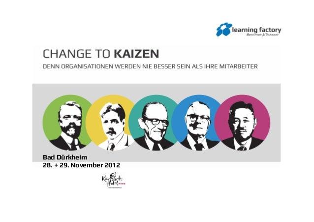 Folien vom Symposium Change to Kaizen