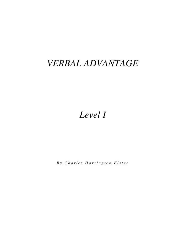Verbal advantage level 1