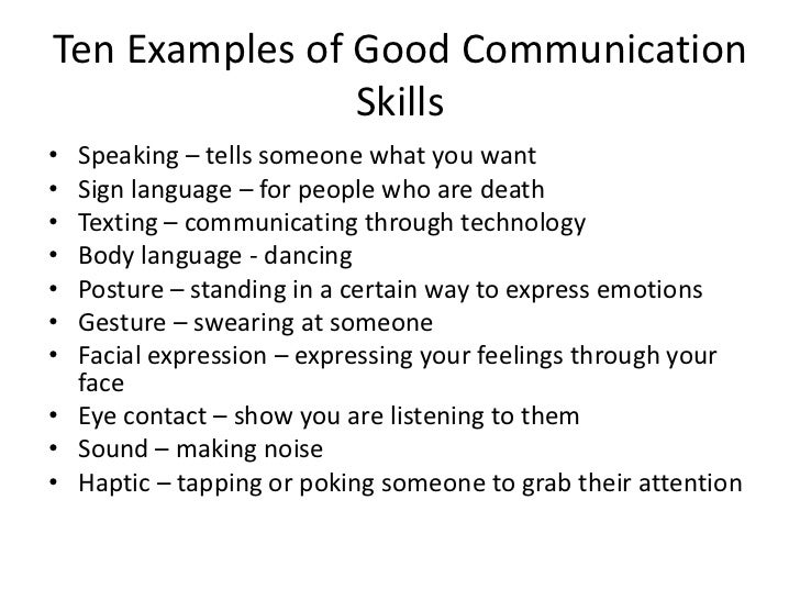 how to describe communication skills