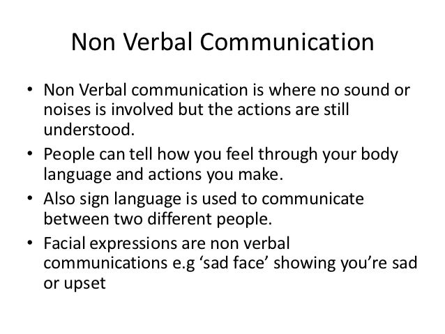 Verbal and Non Verbal Communication Skills