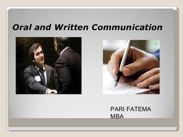 .Verbal communication