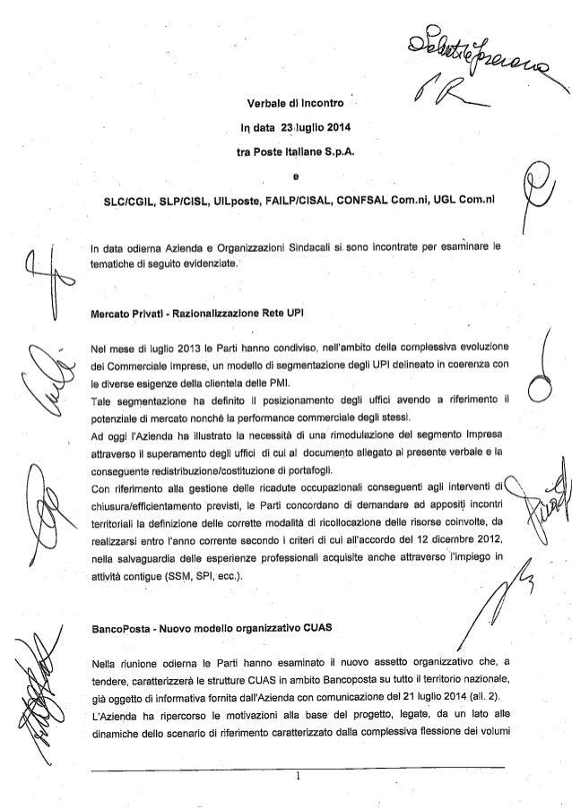 Verbale accordo 23 luglio