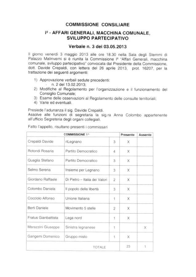 Verbale n. 3 comm. 1   03.05.2013