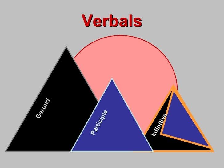Verbals Gerund Participle Infinitive