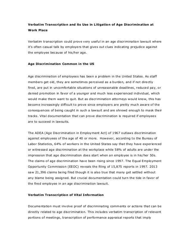 Essay on sex discrimination
