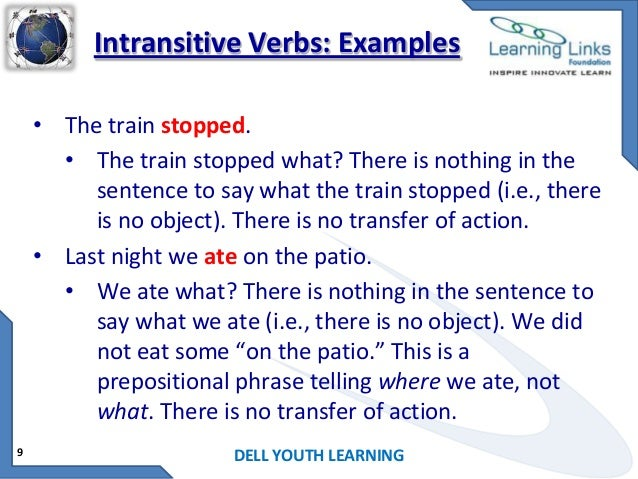 verb and example