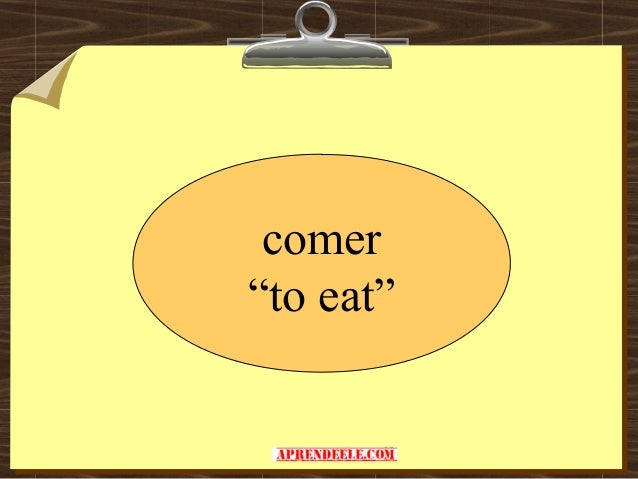 Verbo comer