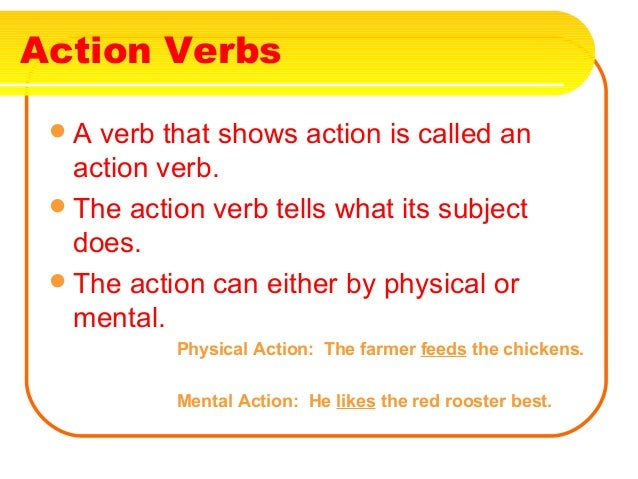 What ...  What Is An Action Verb