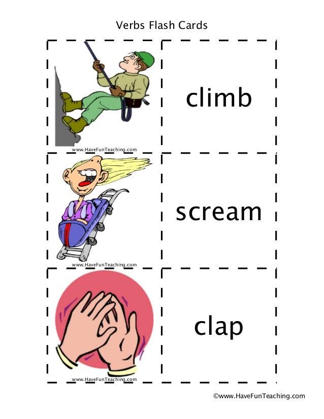 Verbs flash-cards