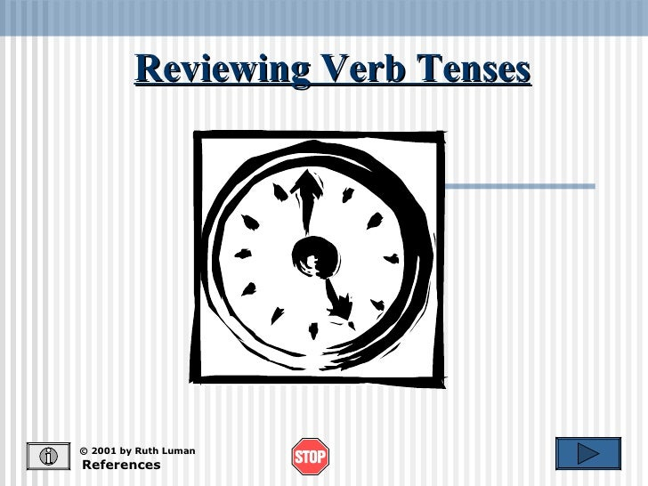 Reviewing Verb Tenses References © 2001 by Ruth Luman
