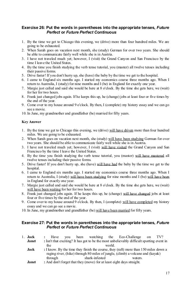 tenses worksheets for grade 7 with answers pdf