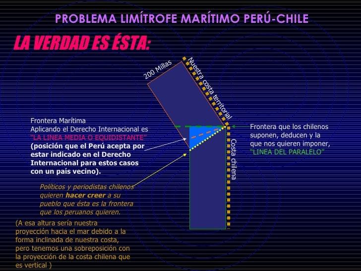 """Nuestra costa territorial 200 Millas Costa chilena Frontera Marítima Aplicando el Derecho Internacional es  """"LA LINEA MEDI..."""