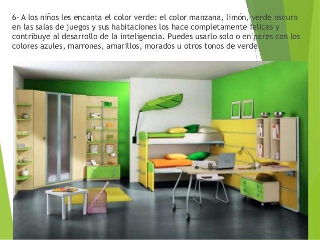 Habitacion juegos de pintar habitaciones Teoru00eda del Color Verde