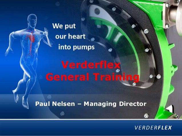 Verderflex General Training Paul Nelsen – Managing Director