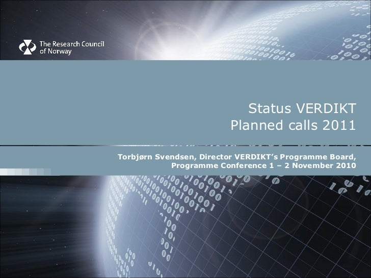 Verdikt planned calls 2011, Torbjørn Svendsen, VERDIKT