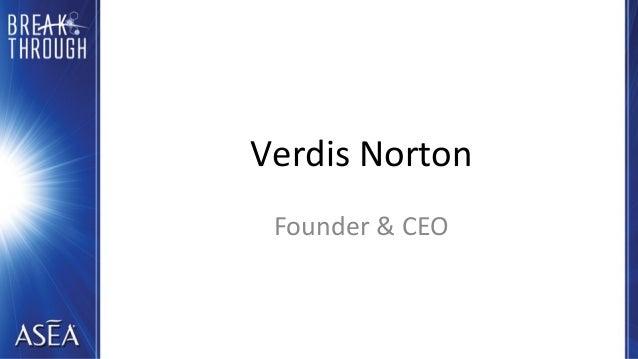 Verdis Norton Founder & CEO