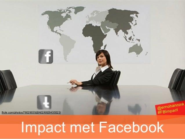Verdubbel je Impact met Facebook webinar #FBimpact 15 nov 13