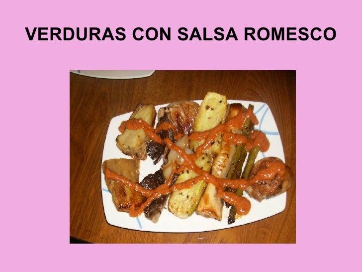 VERDURAS CON SALSA ROMESCO