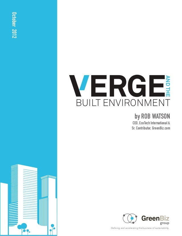Verge and the built environment report