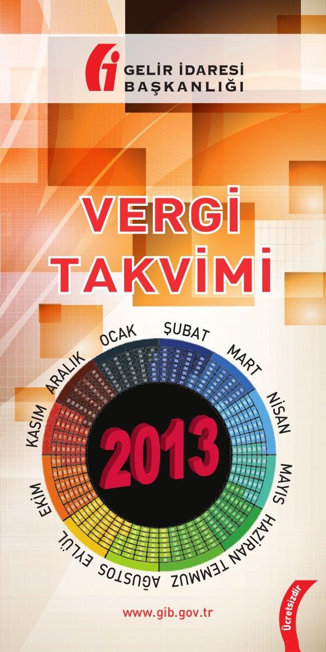 Vergi takvimi 2013