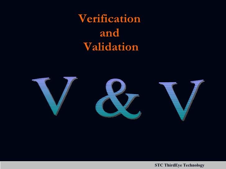Verification  and  Validation V & V