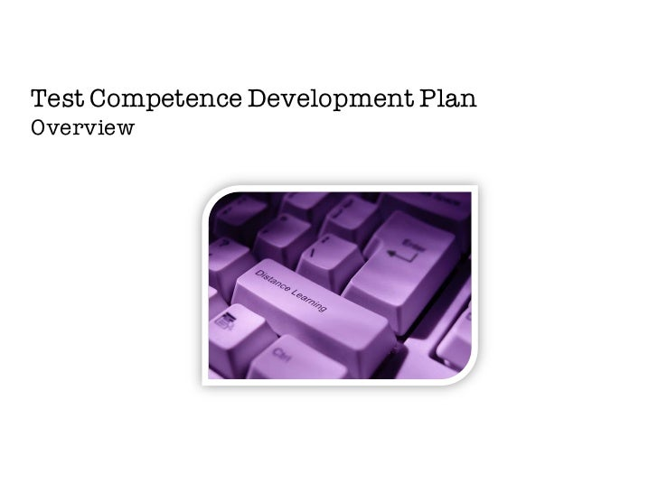 Test Competence Development PlanOverview