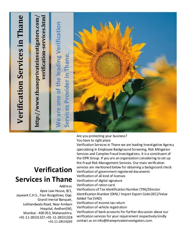 Verification Services in Thane - Thane Verification Services