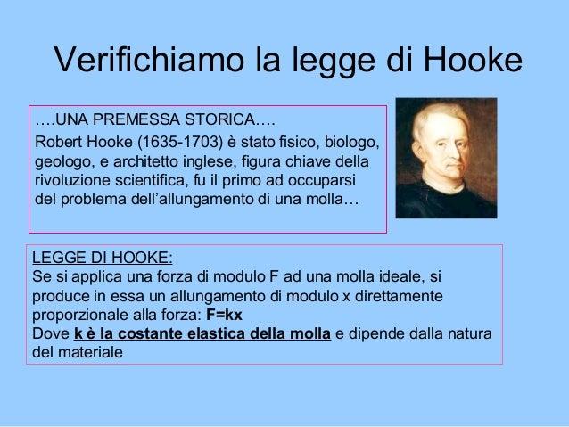 ….UNA PREMESSA STORICA…. Robert Hooke (1635-1703) è stato fisico, biologo, geologo, e architetto inglese, figura chiave de...