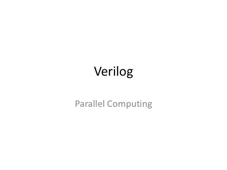 VerilogParallel Computing