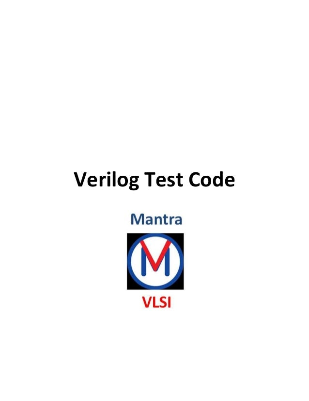 Verilog Test Code