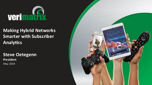 Making  Hybrid  Networks   Smarter  with  Subscriber   Analy:cs      Steve  Oetegenn   President   M...