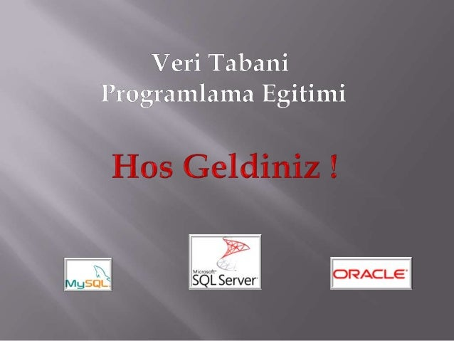 Veritabani Programlama - Oracle IV.Egitim - View Kullanimi