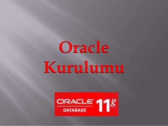 OracleKurulumu
