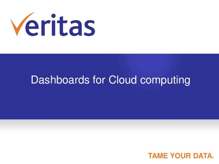 Dashboards for Cloud computing<br />