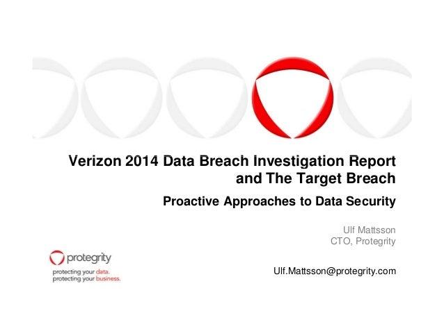 Verizon 2014 data breach investigation report and the target breach