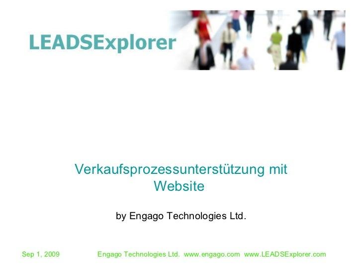 by Engago Technologies Ltd. Verkaufsprozessunterstützung mit Website