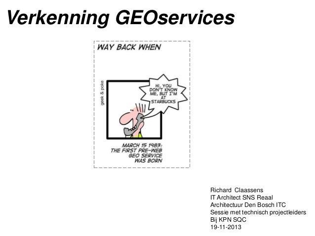Verkenning geo services
