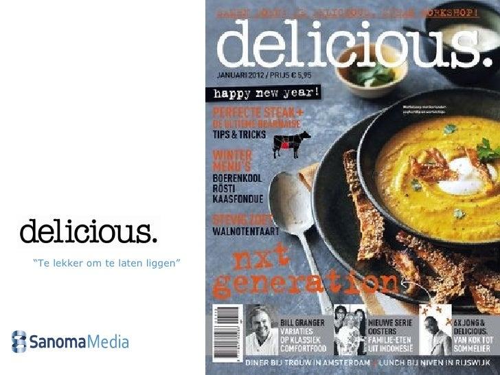 Verkorte titelpresentatie delicious 2012