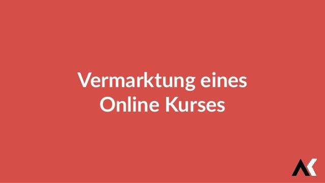 Vermarktung eines Online Kurses